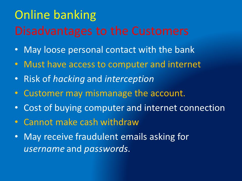 online banking advantages and disadvantages essays Though the advantages of social media seem  it is good for people to acknowledge both the advantages and disadvantages of social media  related essays.