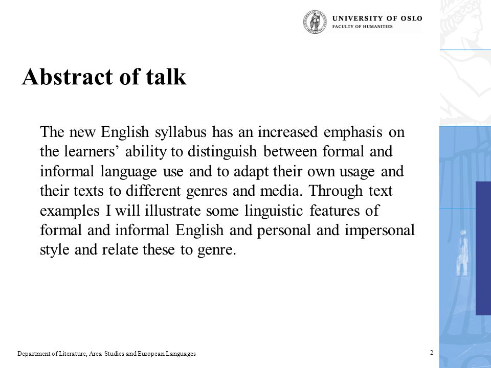Style and genre in the English language syllabus - ppt video online ...