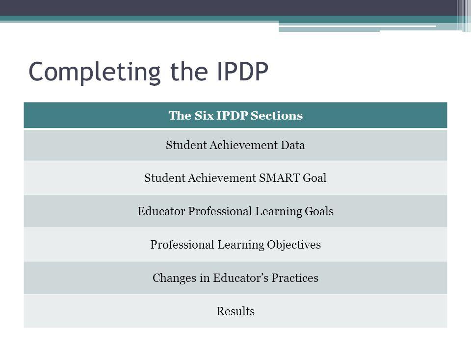 Individual Professional Development Plan - ppt download