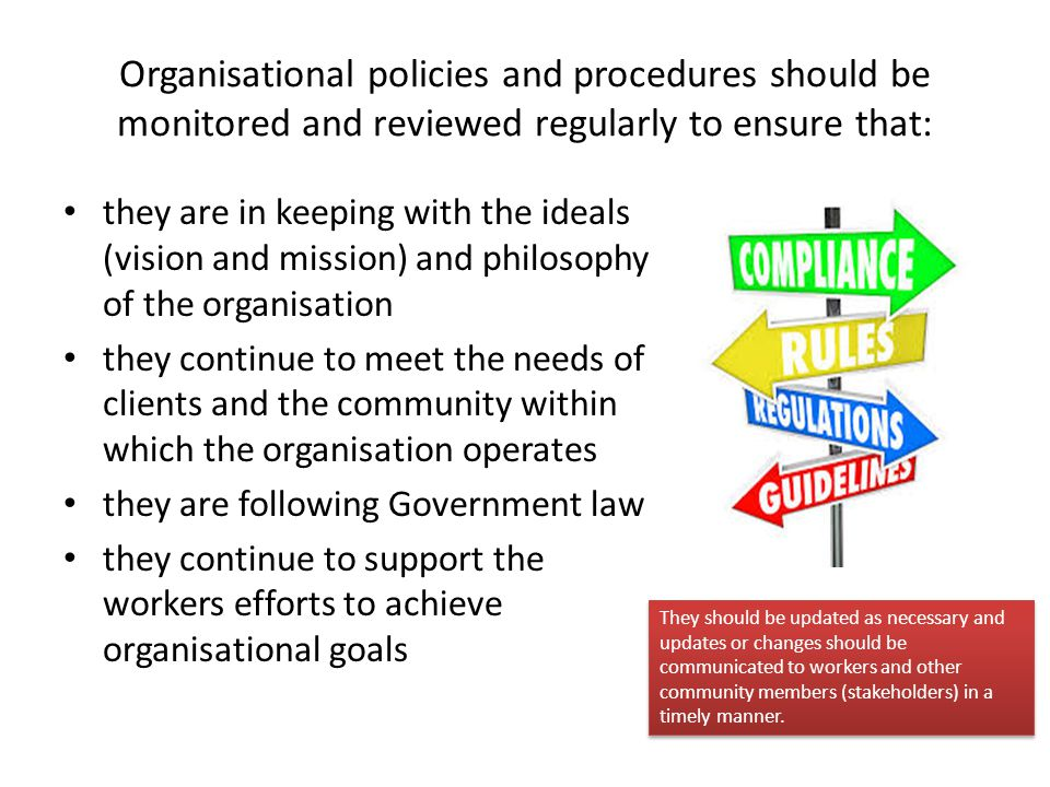 how to follow organisational procedures when Procedures you must follow may be similar to the following examples: grievance process organisational policies and procedures personal documents summary.