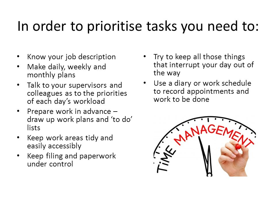 how to prioritise work tasks