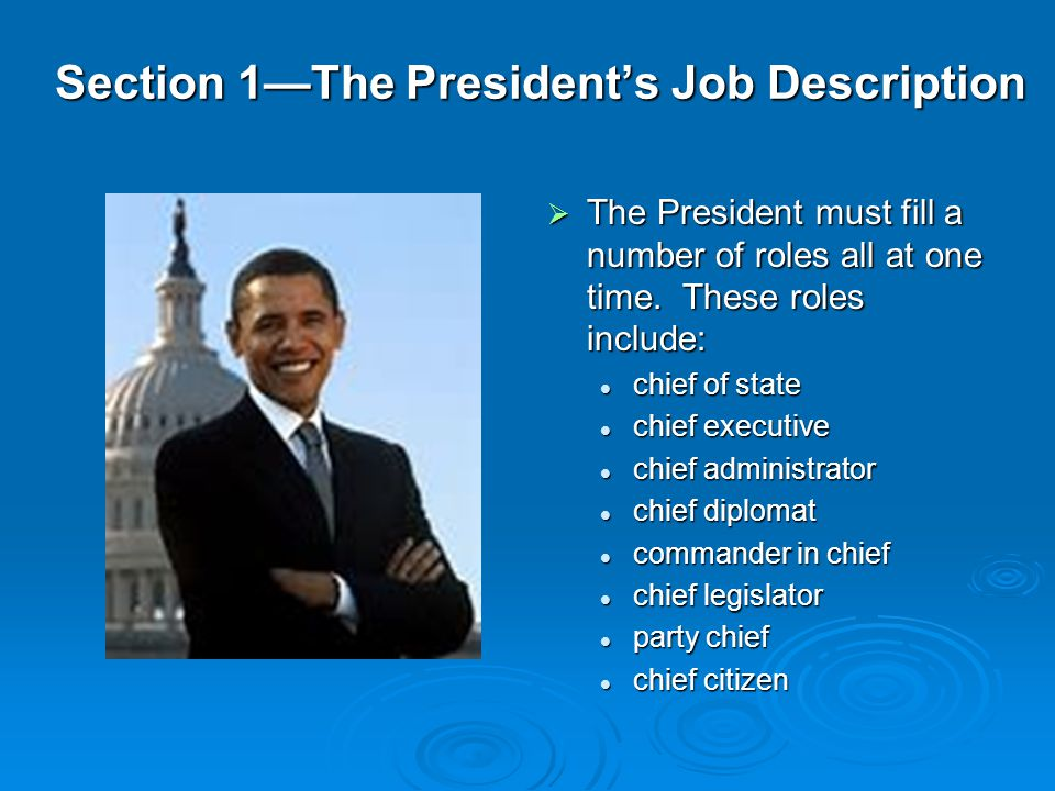 The President Chapter Ppt Download