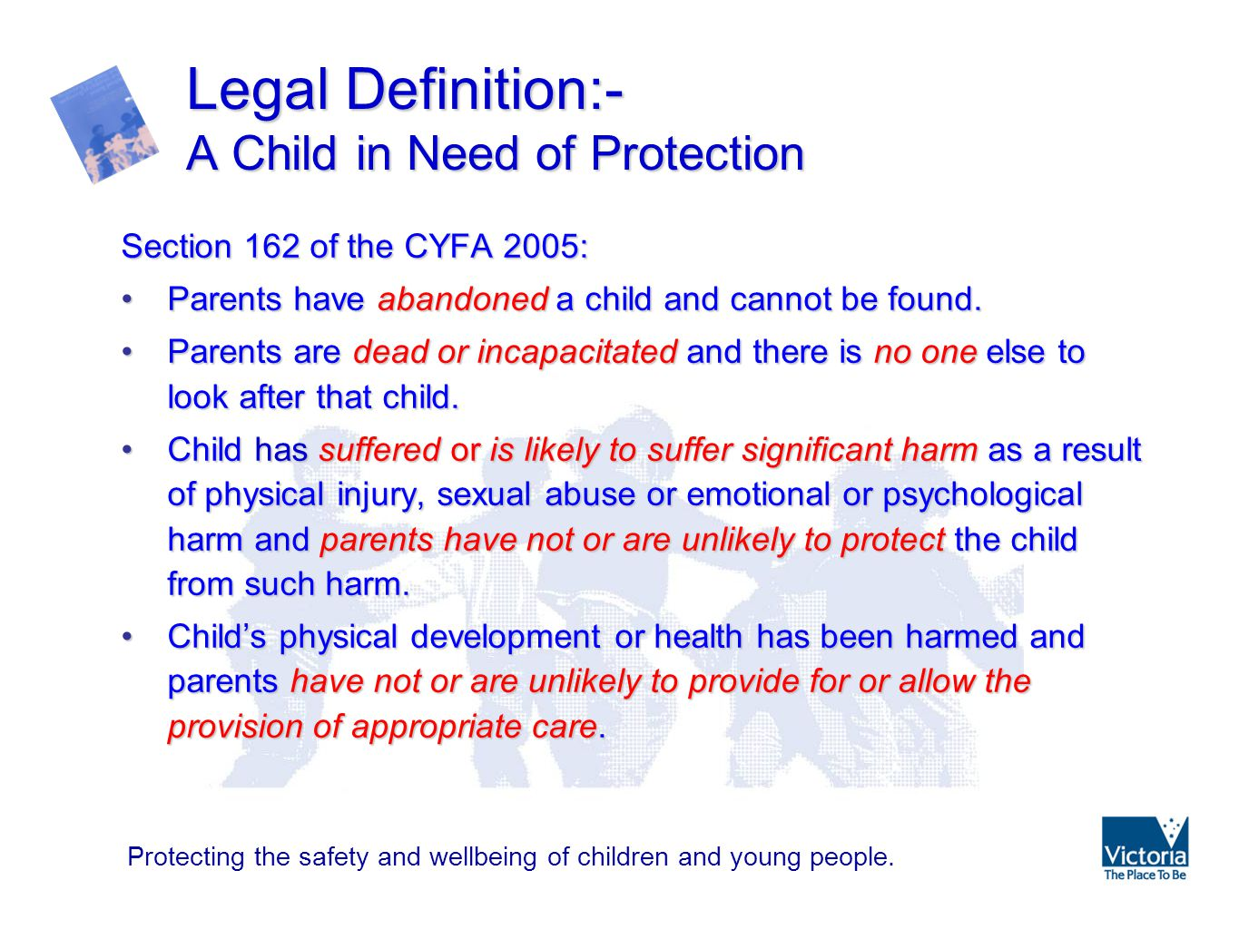 an explanation of child protection Republic act 7610 an act providing for stronger deterrence and special protection against child  prisoners and persons covered by republic act no.