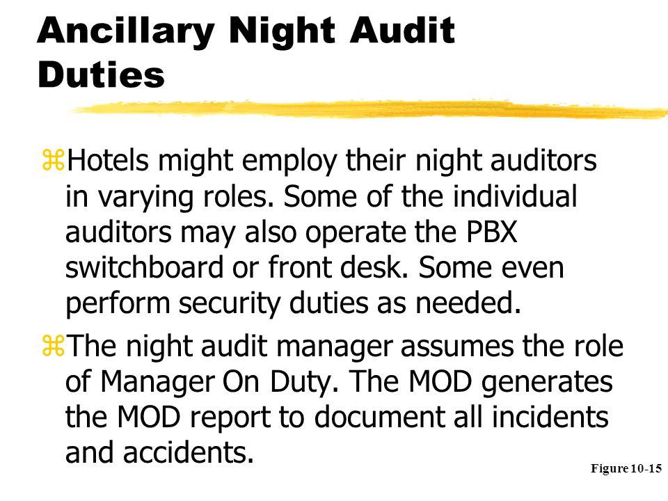 ancillary night audit duties