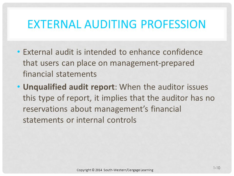 Chapter 1 Auditing: Integral To The Economy - Ppt Download