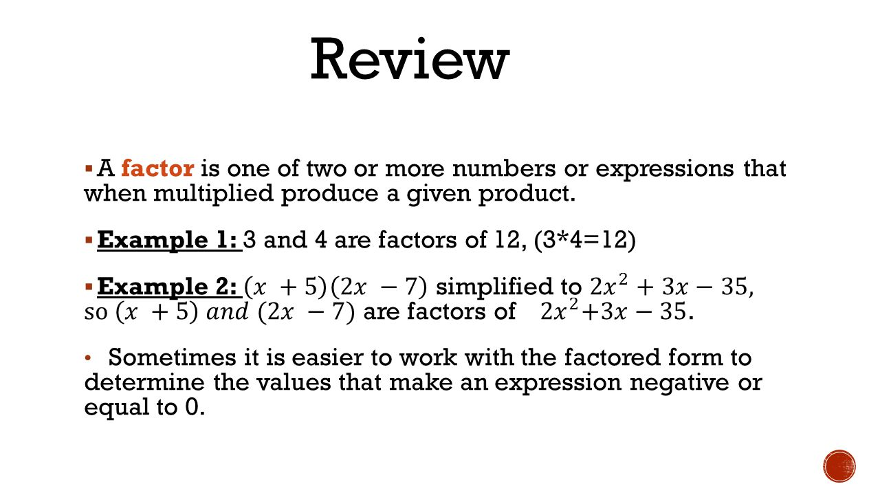 Review A Factor Is One Of Two Or More Numbers Or Expressions That When  Multiplied Produce Missing Variables And The Perimeter Of A Triangle