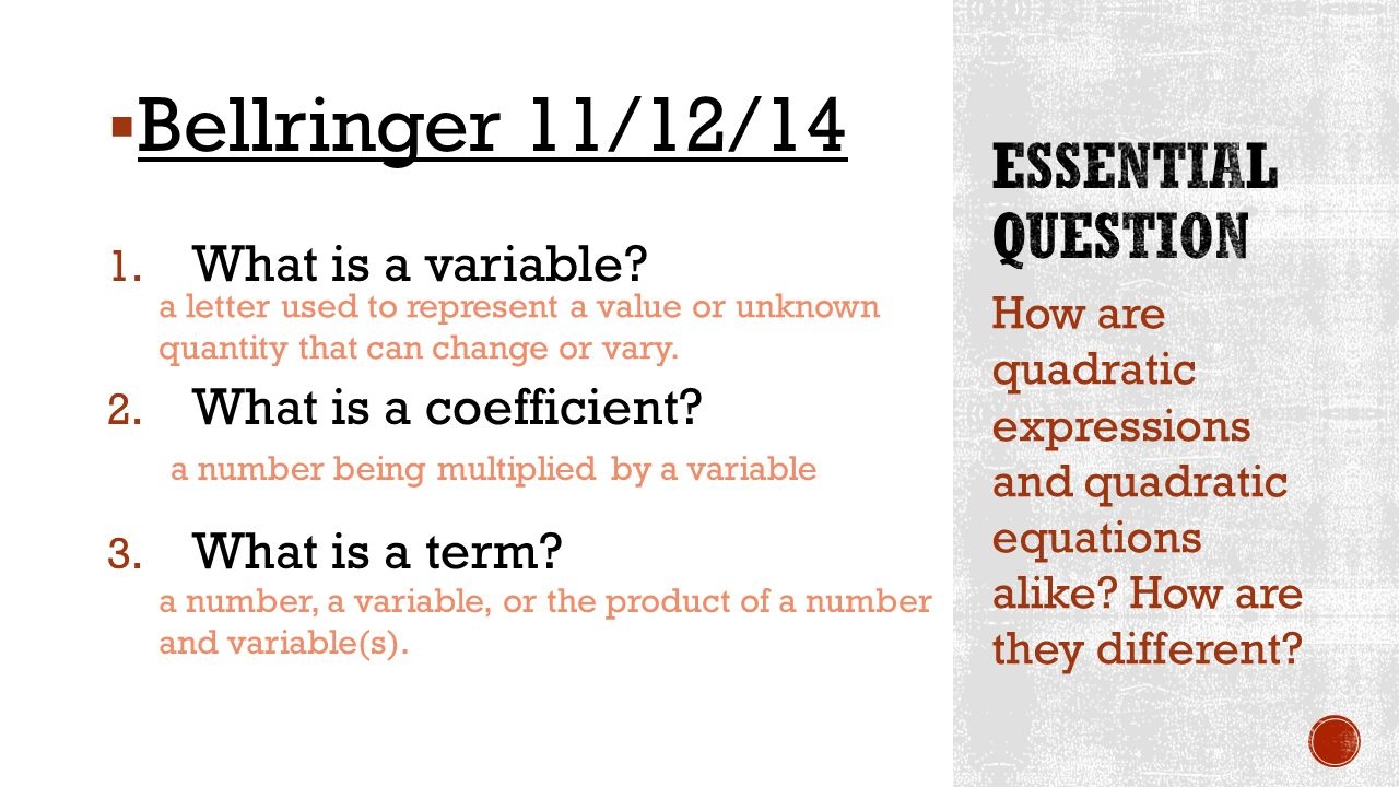 14 Essential Question What Is A Variable