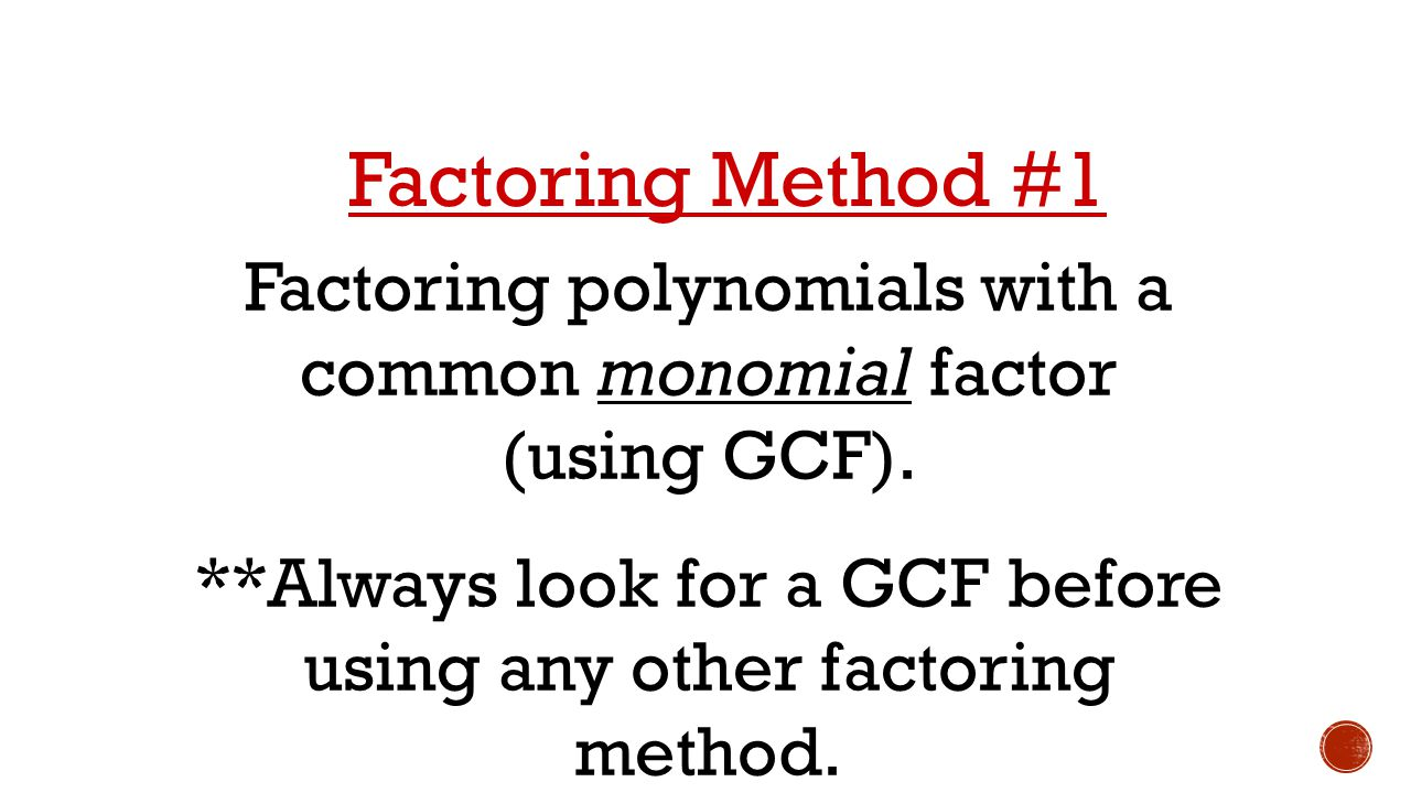 32 Factoring Quadratic Functions Unit Ppt Download How To Factor A Monomial  Solution For How To
