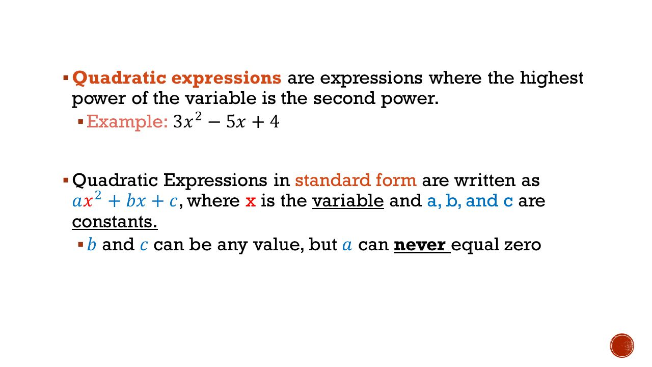 Quadratic functions unit ppt download quadratic expressions are expressions where the highest power of the variable is the second power falaconquin