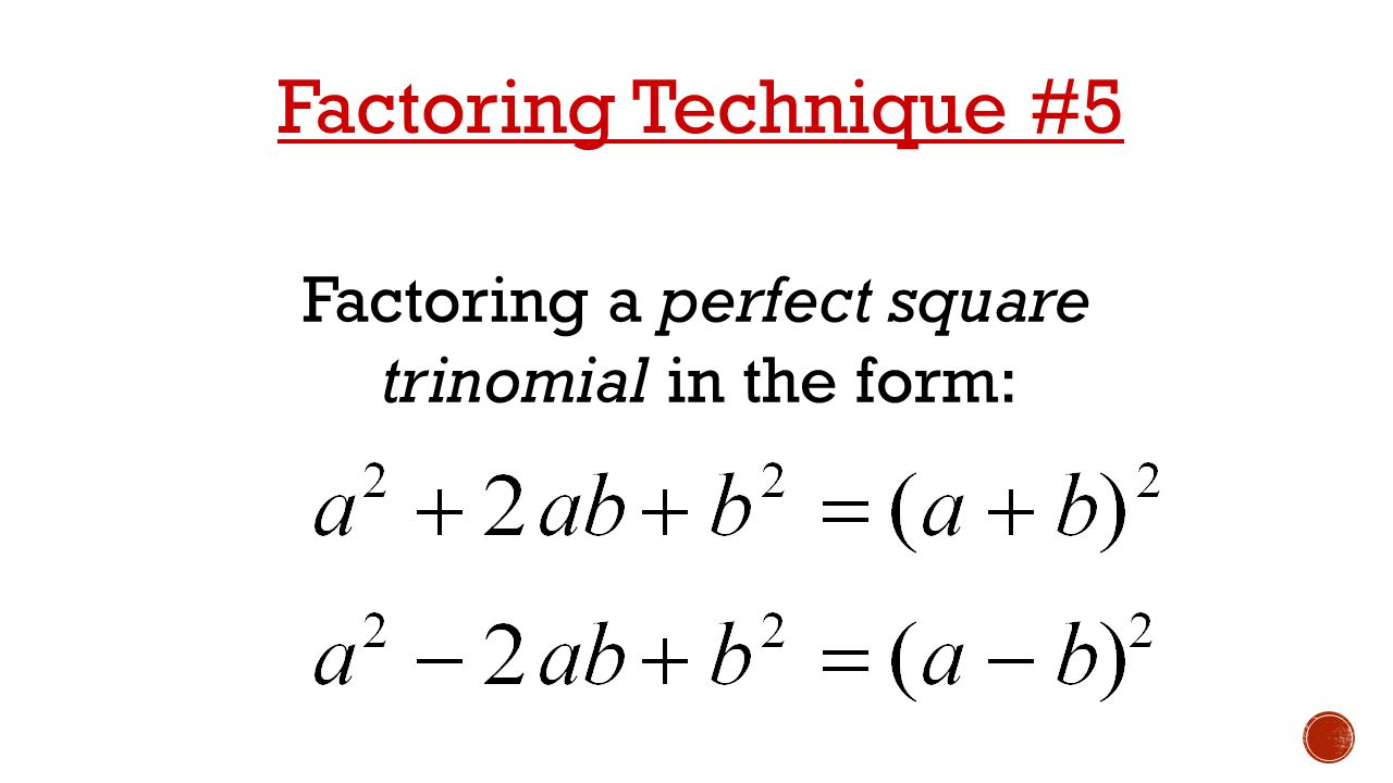 How Toplete The Square Step By Step By Barbara Allen Solving 67  Factoring A Perfect Square Trinomial Quadratic Functions Unit Ppt Download