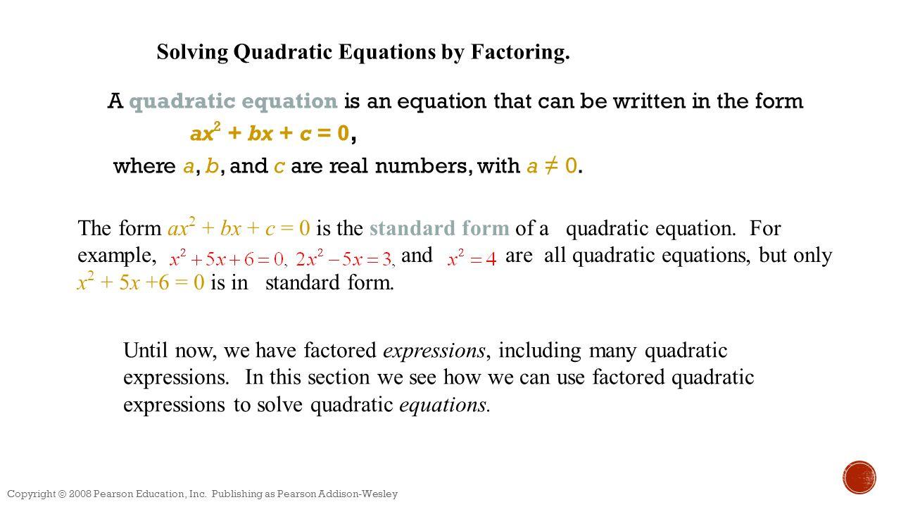 Quadratic functions unit ppt download solving quadratic equations by factoring falaconquin