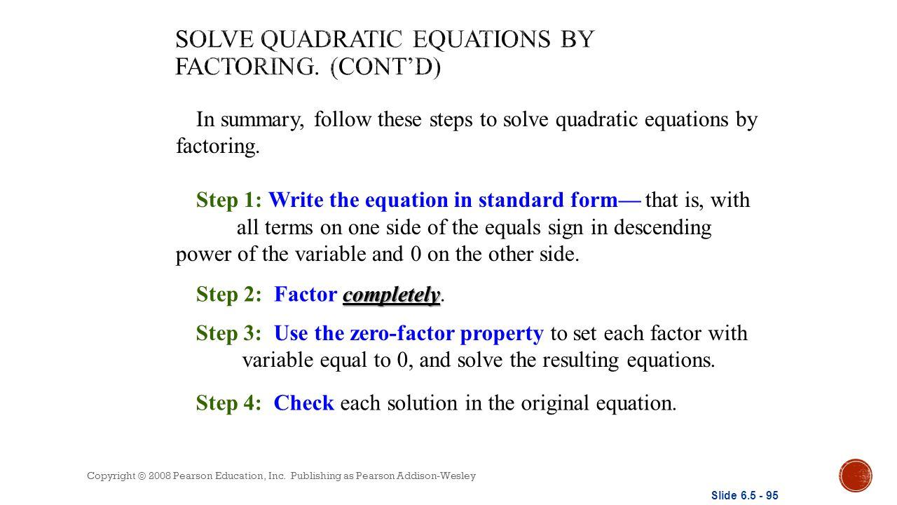 Quadratic functions unit ppt download solve quadratic equations by factoring contd falaconquin