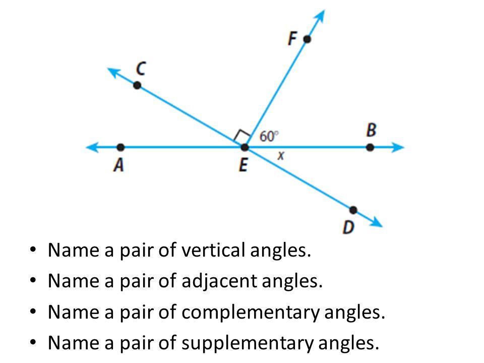 Angle Relationships ppt download – Adjacent and Vertical Angles Worksheet