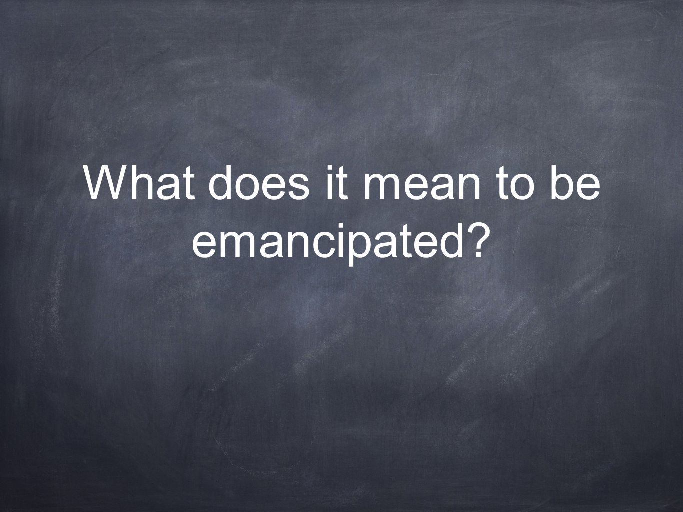 What does it mean to be emancipated