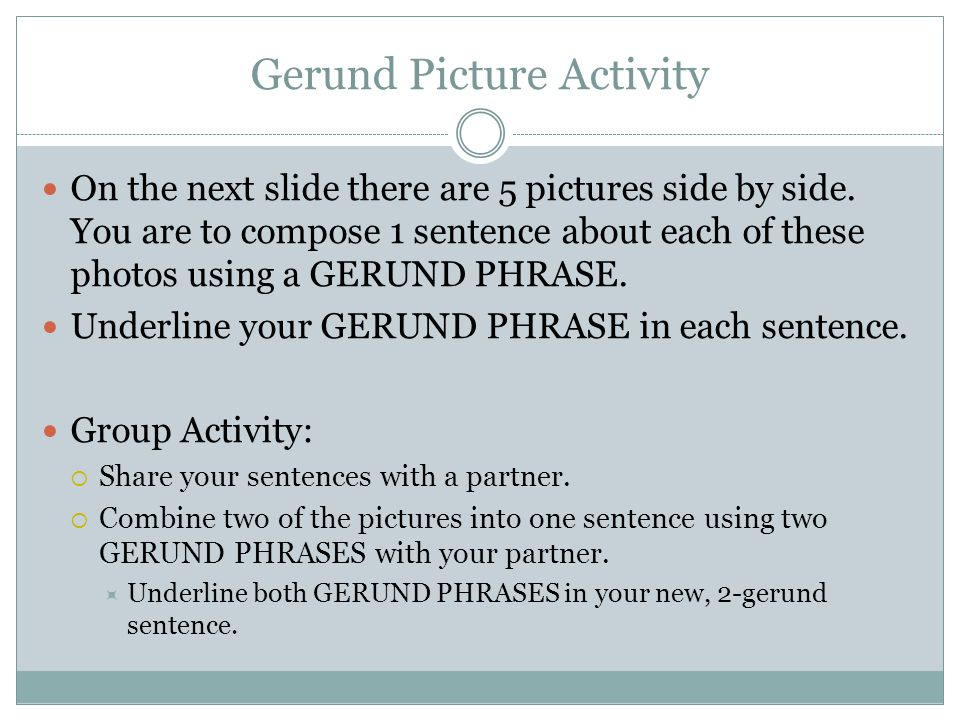 PARTS OF SENTENCES UNIT ppt download – Gerund Phrase Worksheet