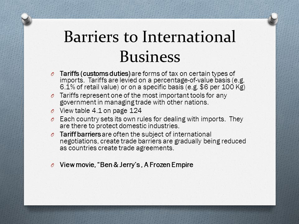 """trade barriers to protect the domestic industry To protect domestic jobs from """"cheap"""" labor abroad  to improve a trade deficit trade barriers make imports more expensive, and as a result, they also ."""