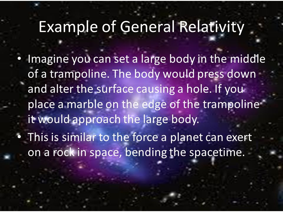 general relativity The special theory of relativity was a first step for einstein the fuller development  of his goal ofrelativizing physics came with his general theory of relativity.