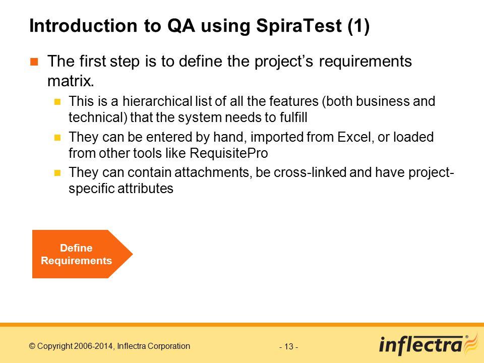 Introduction to QA using SpiraTest (1)