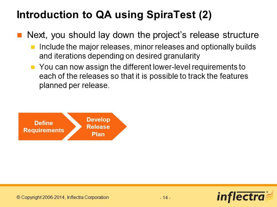 Introduction to QA using SpiraTest (2)