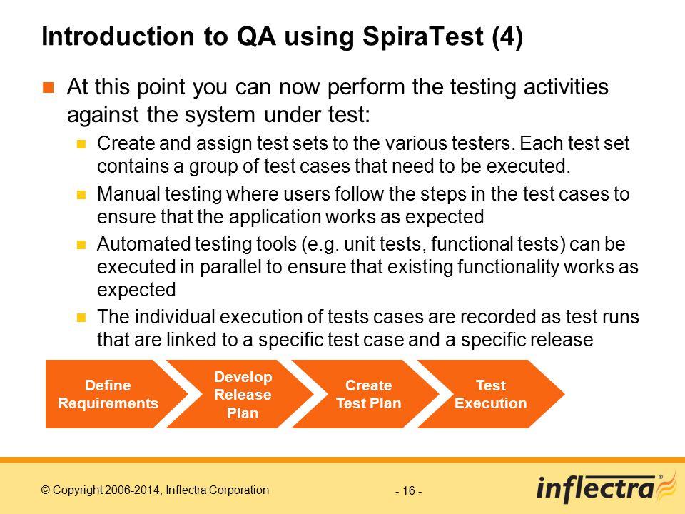 Introduction to QA using SpiraTest (4)