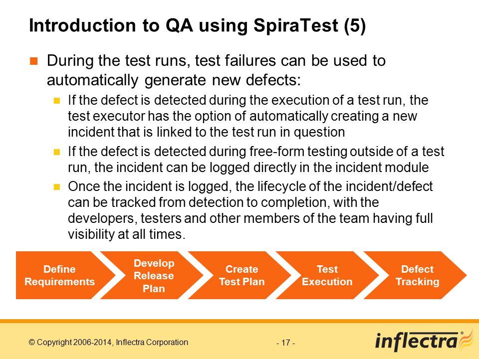 Introduction to QA using SpiraTest (5)