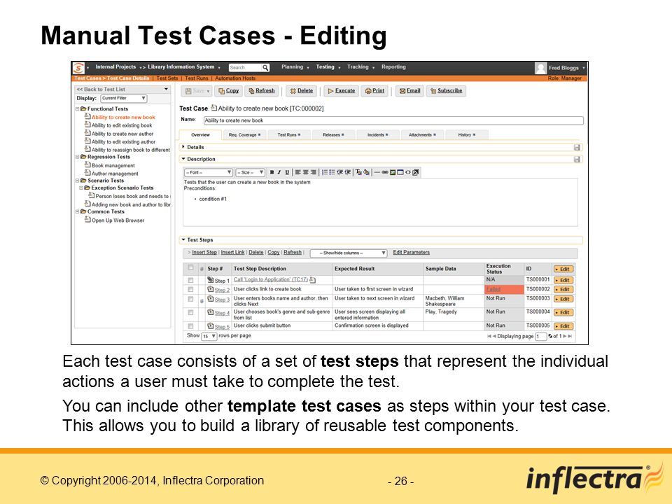 Manual Test Cases - Editing