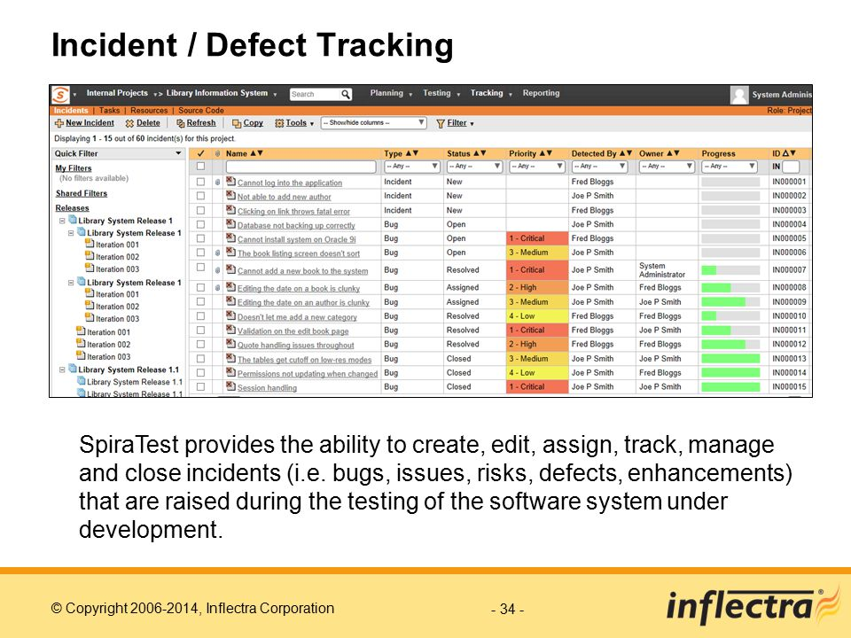 Incident / Defect Tracking