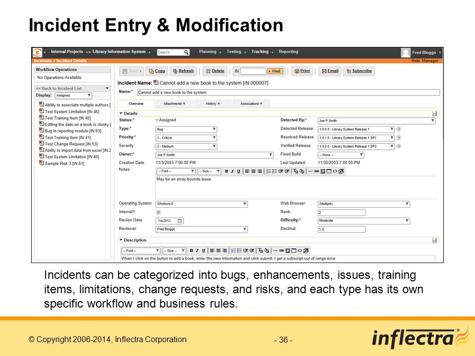 Incident Entry & Modification