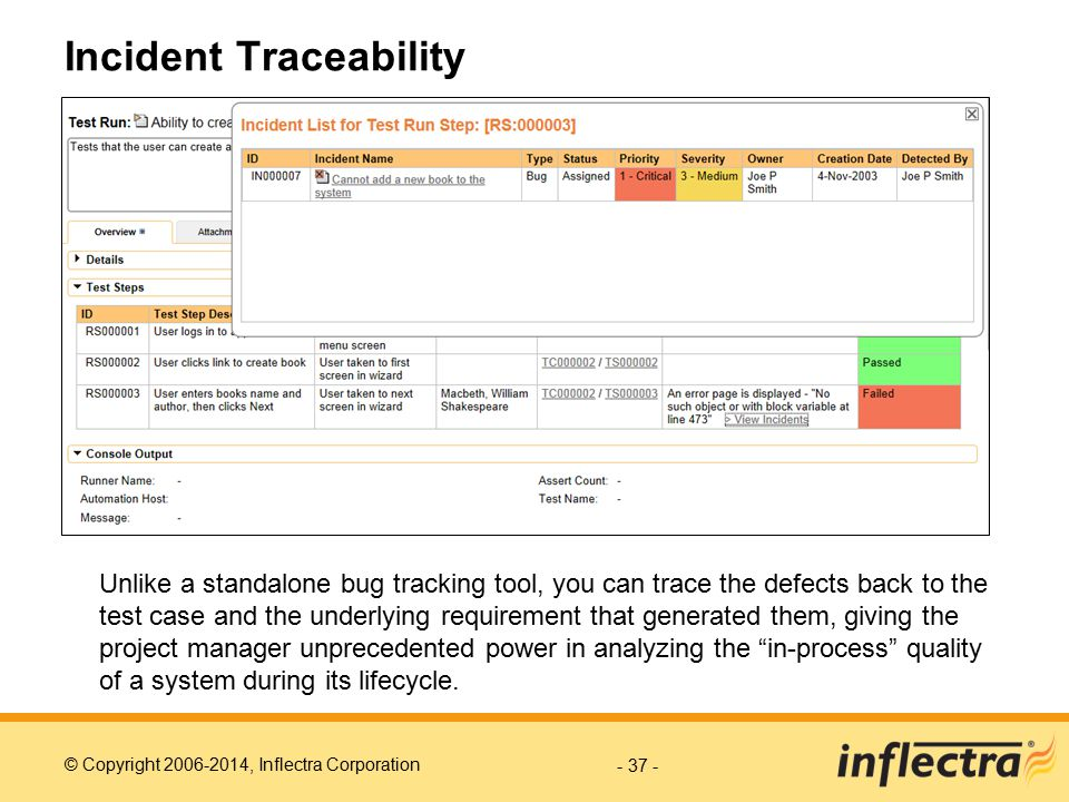 Incident Traceability