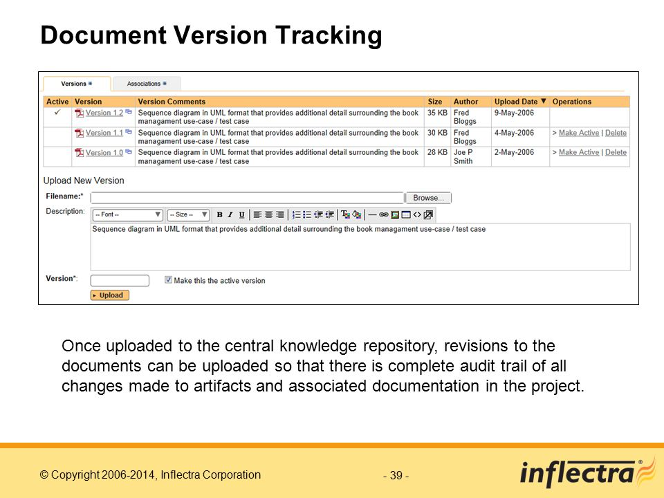 Document Version Tracking