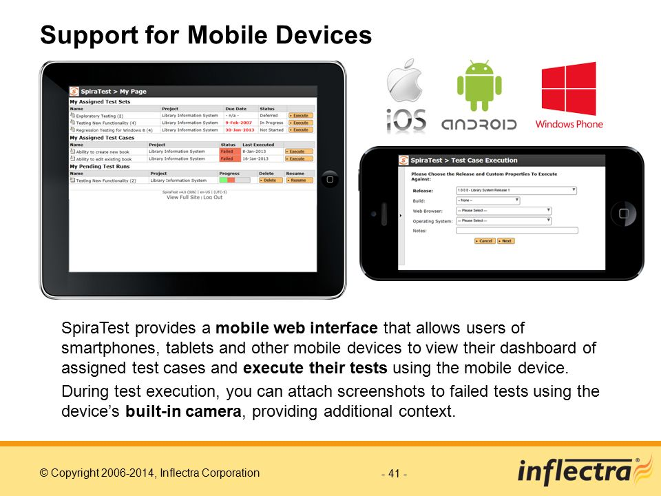 Support for Mobile Devices