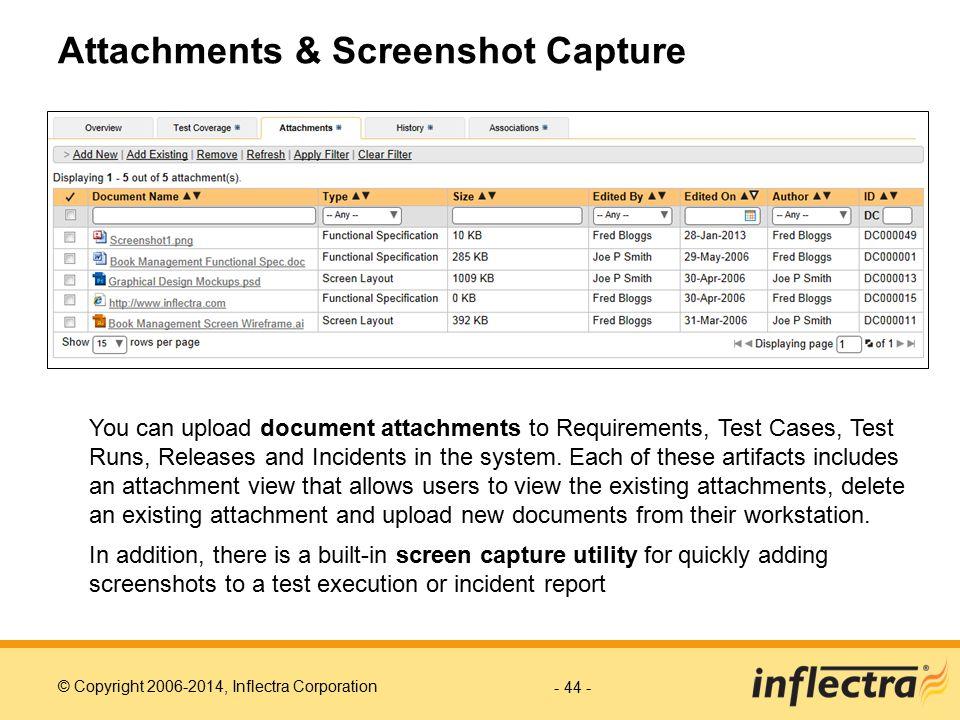 Attachments & Screenshot Capture