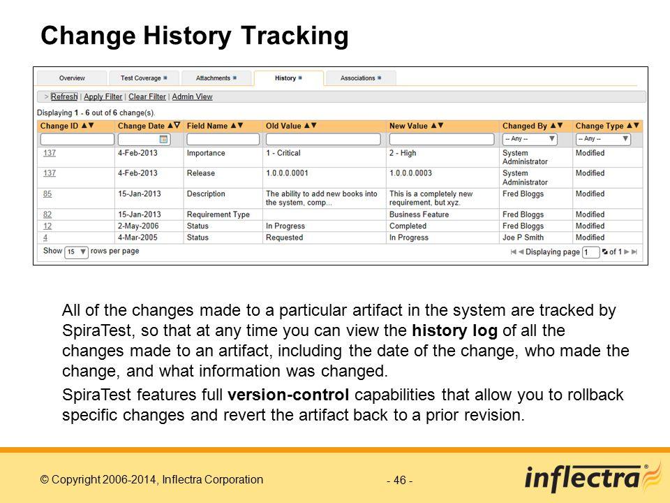 Change History Tracking
