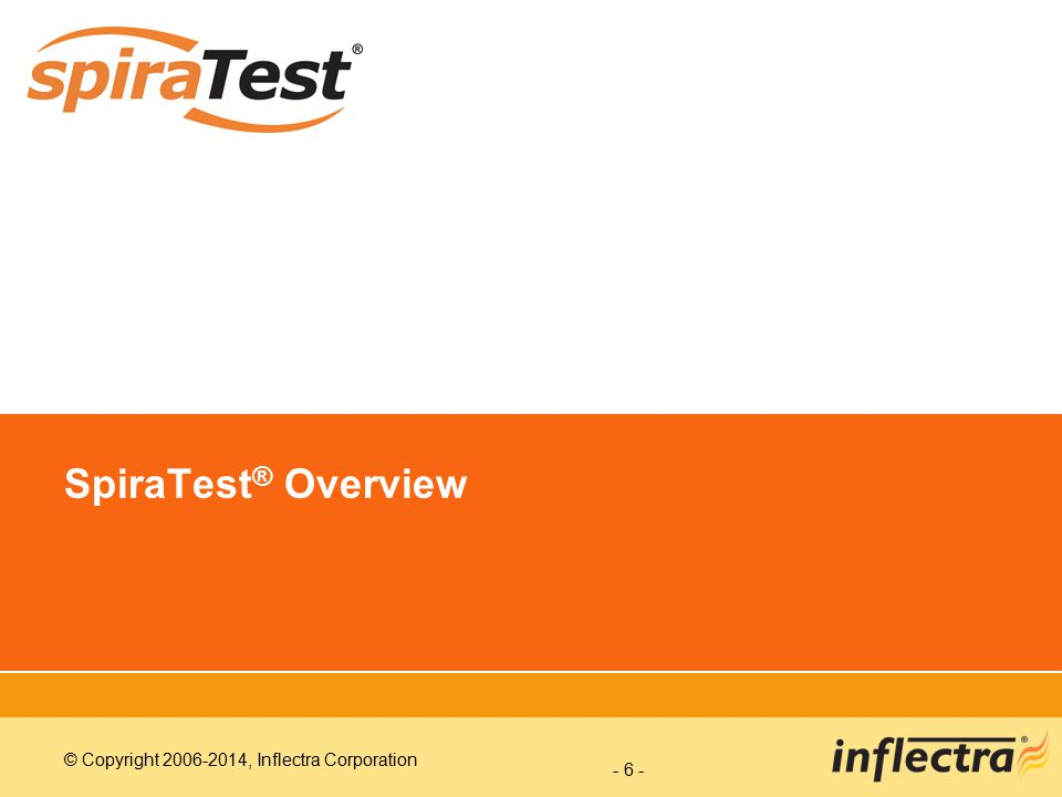 SpiraTest® Overview