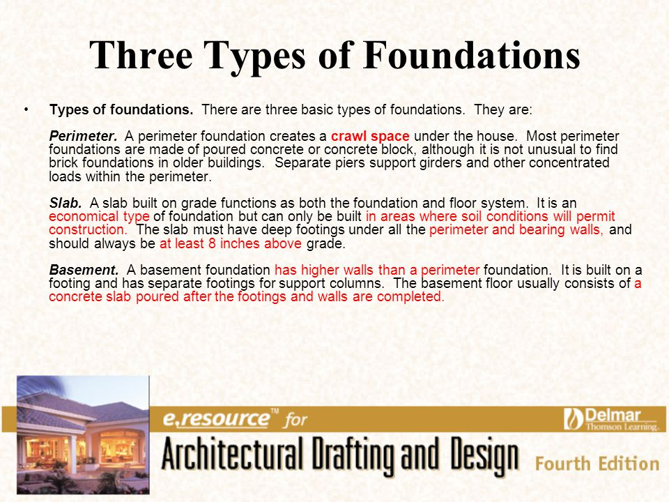Floor systems and foundation support ppt video online for Types of home foundations