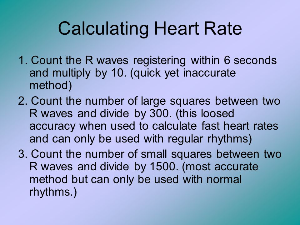 Calculating Heart Rate