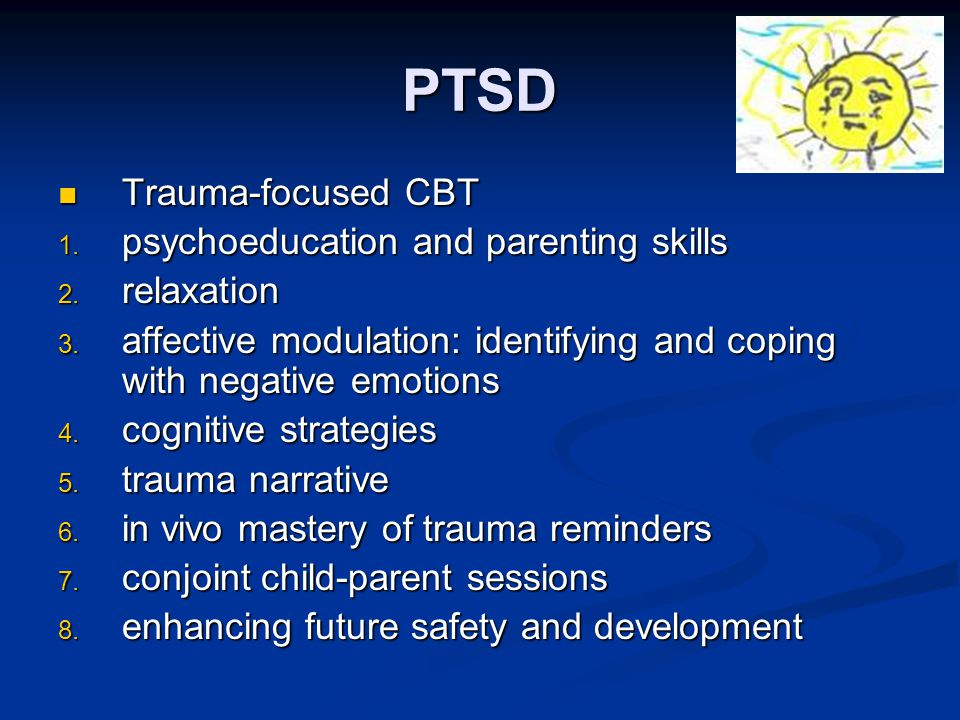 Trauma focused cognitive behavioral therapy