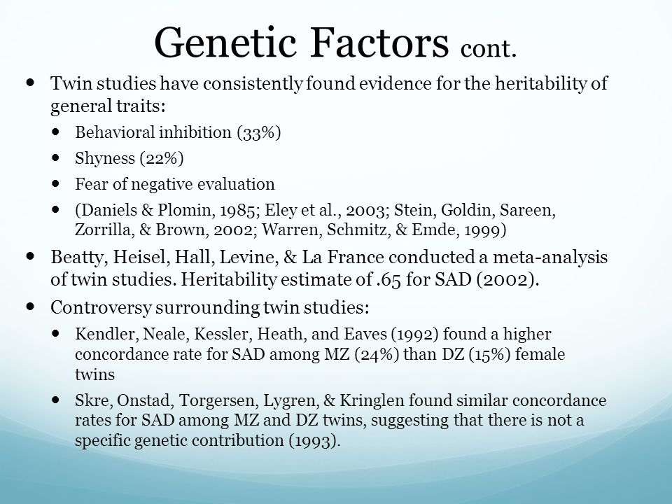 outline and evaluate genetic factors in Ao1: for the chosen theory/theories you need to name each and outline its   overall you can discuss the problems of not being able to carry out accepted   tests, genetic factors on test performance, and environmental factors and test.