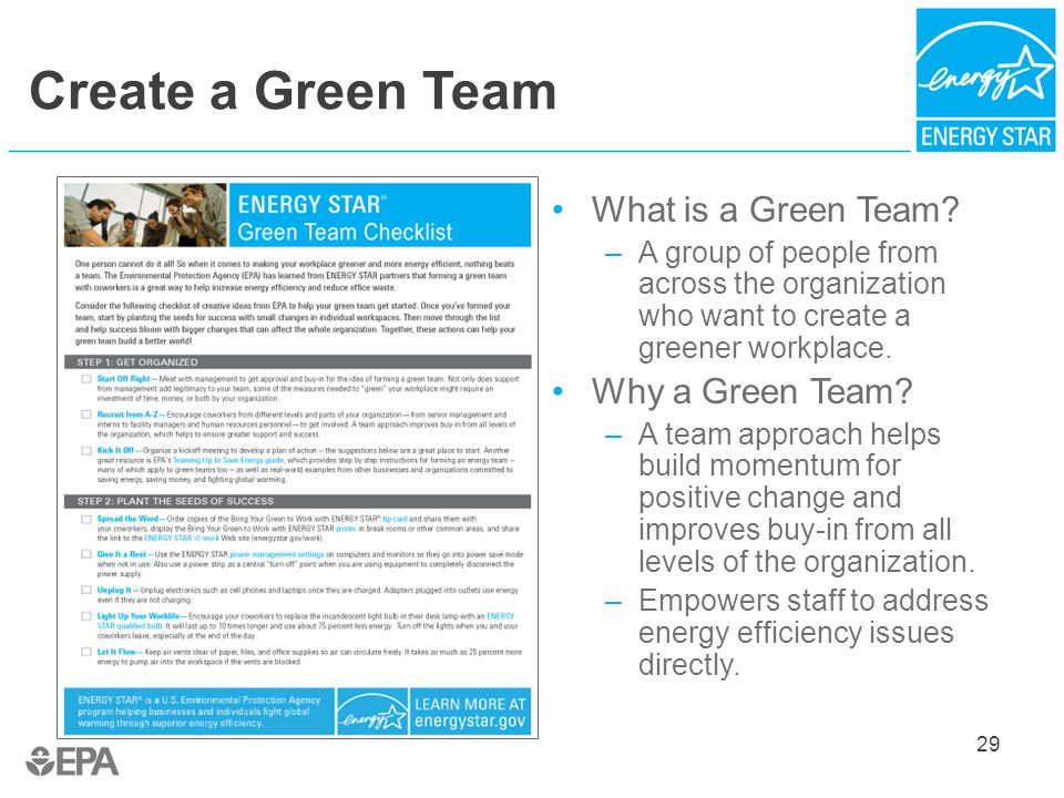 Bring your green to work with energy star ppt download for Build it green checklist