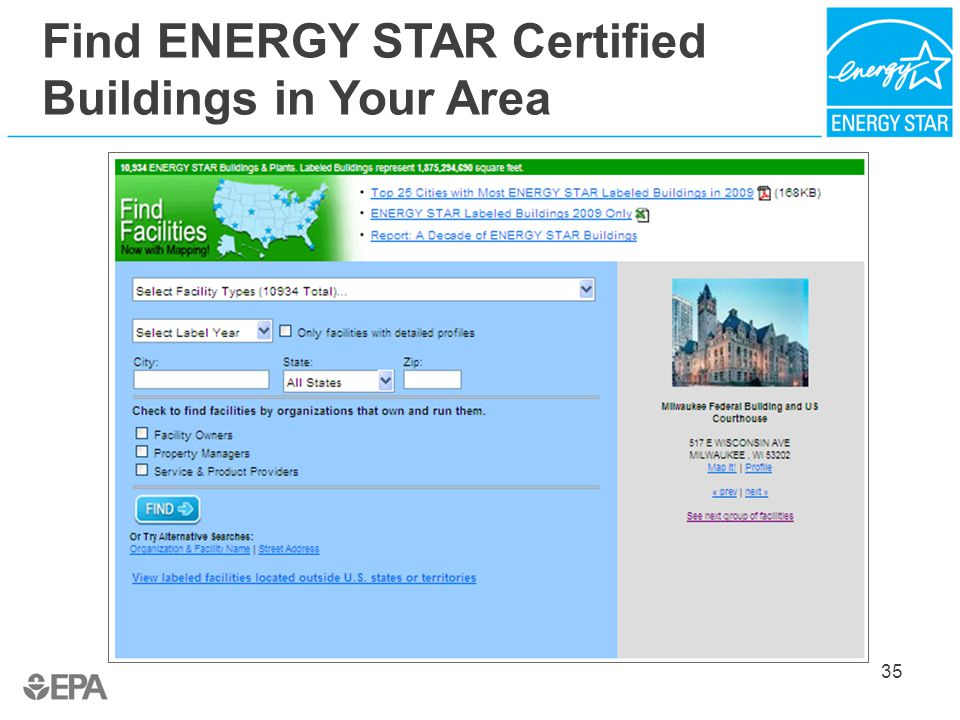 Bring your green to work with energy star ppt download for Find builders in your area