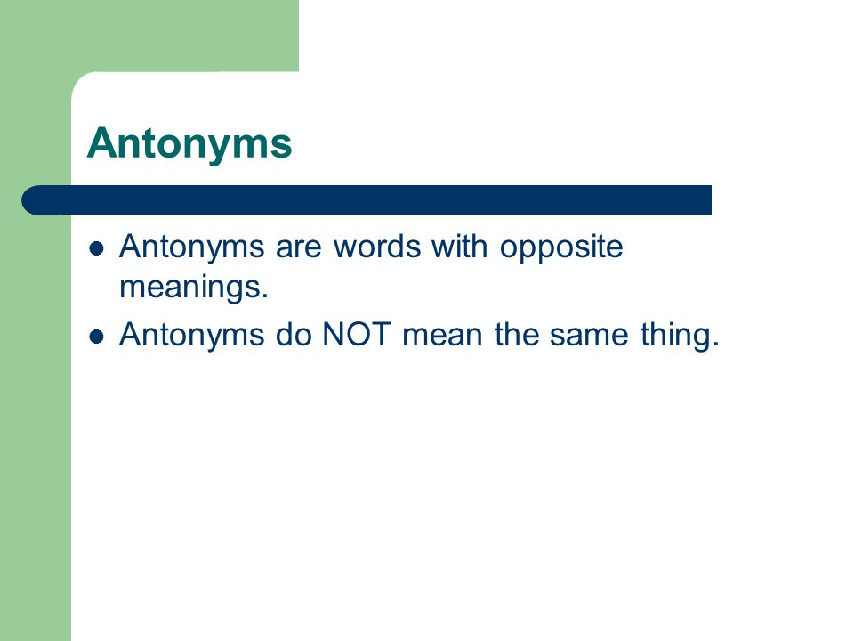 Who does antithesis mean