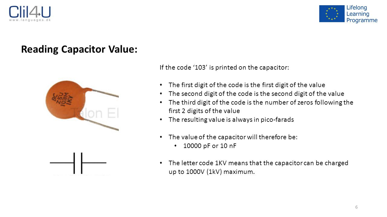 Reading Capacitor Value: