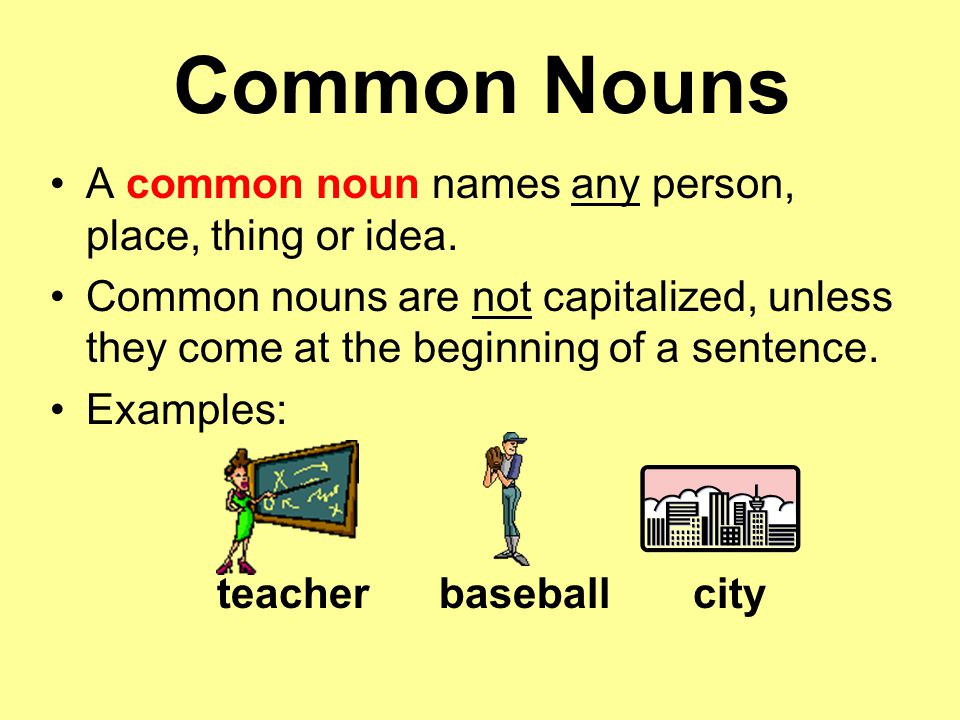 list of common nouns pdf