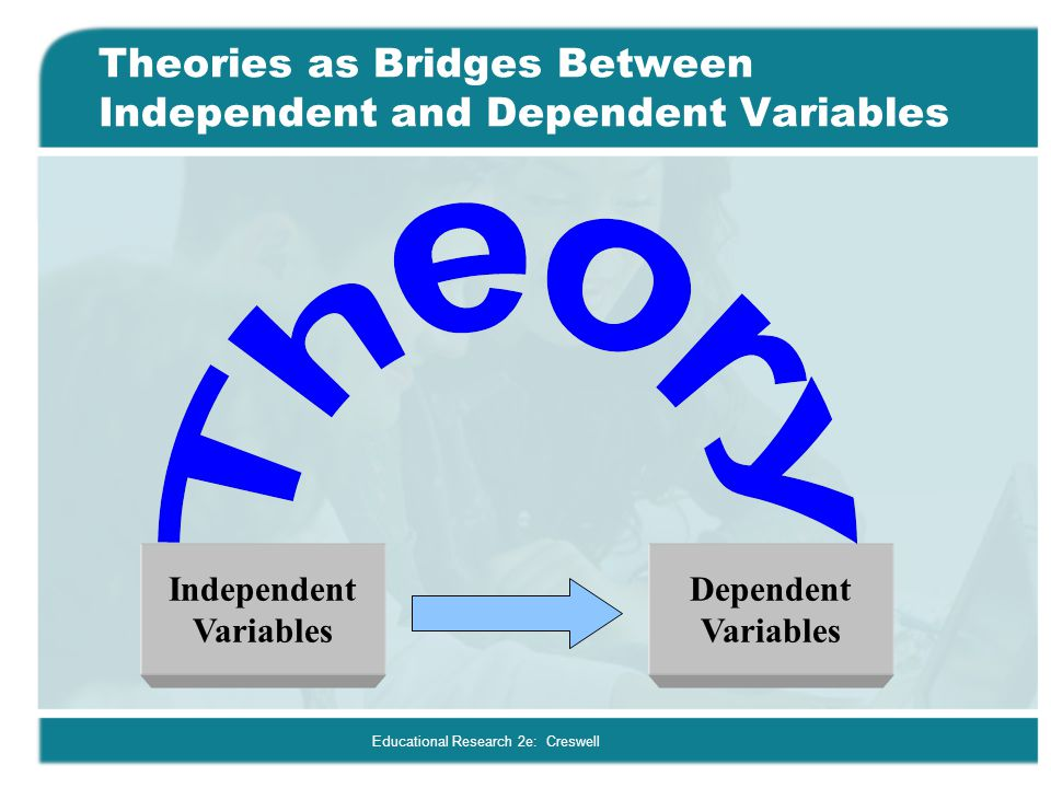 Theories as Bridges Between Independent and Dependent Variables