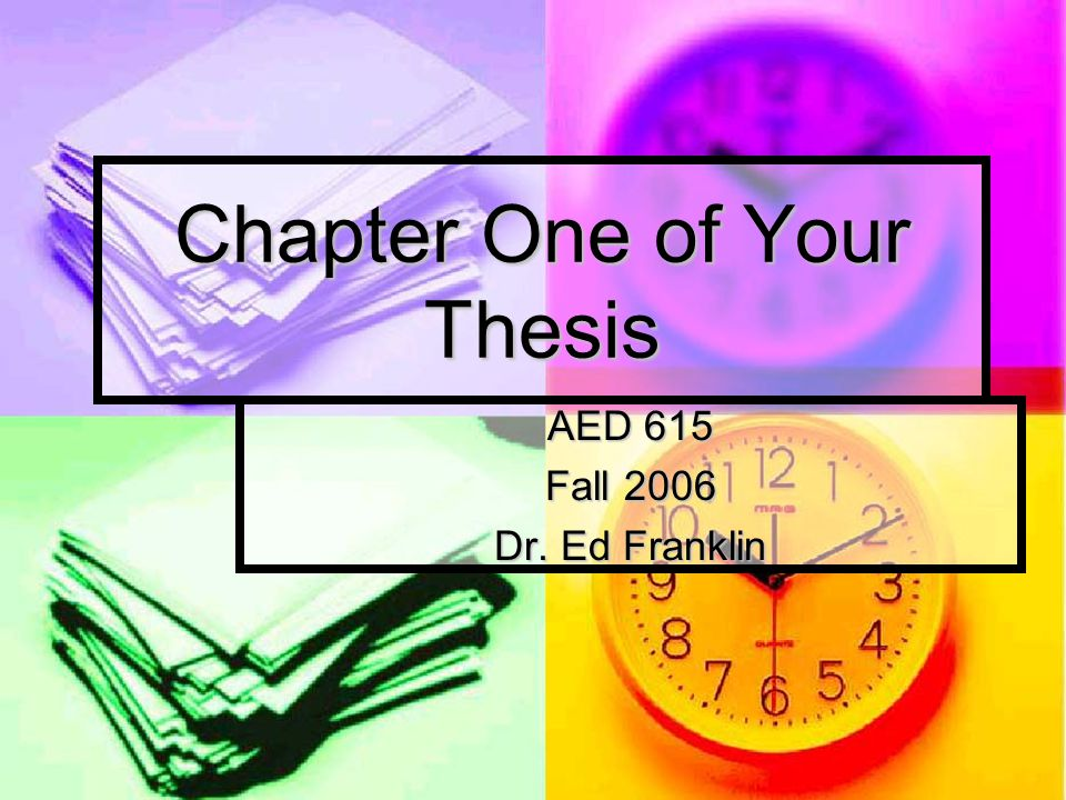 thesis chapter 1 contents