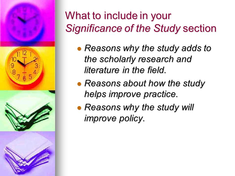 What to include in your Significance of the Study section