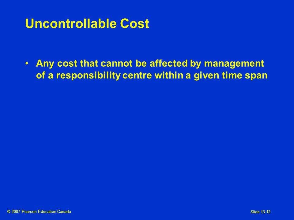 the controllability principle in responsibility Risk management policy   the council has responsibility to oversee the risk management framework and  controllability.