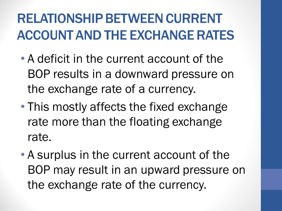 the relationship between exchange rates and If the relationship between interest rates and exchange rate movements were   least, some knowledge about the actual relationship between interest rate and.