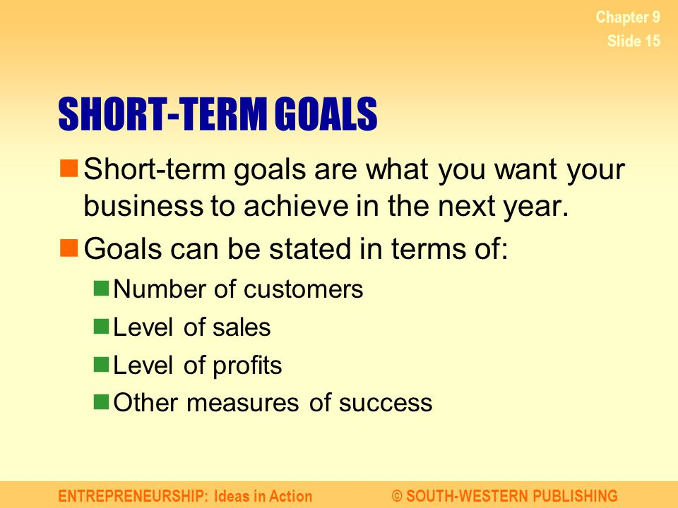 Short Term Goal Examples That May Change Your Life