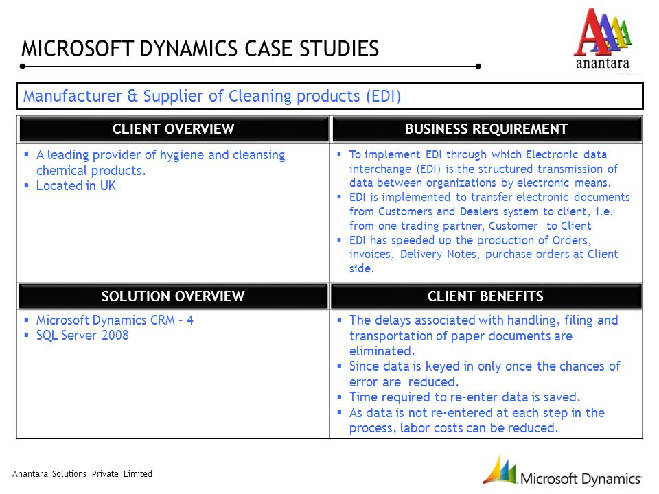 microsoft dynamics crm 2011 case studies Ul case study home case study ul because powerobjects focuses exclusively on microsoft dynamics crm winner of the 2017 microsoft worldwide partner of the.